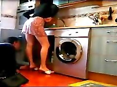 Turkish MILF drives this plumber crazy