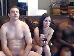 caldo amatoriali di Interracial del cazzo 3 coppie del webcam VANNO VEDI !!