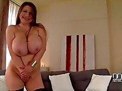 Russian Busty Goddess In Titty Shaking Solo Striptease