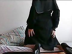 Arab Egypt Esposa En Niqab Hijab Masturbación Anal
