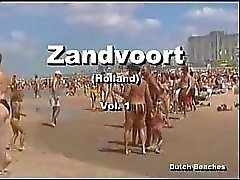 Zandvoort holländsk Strand Topless Nudist Titties den 12
