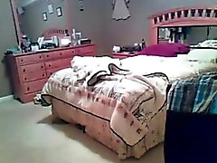 Bedroom spy tape of mature housewife Janice