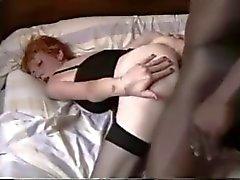dünnen reifen Redhead Weib BBC
