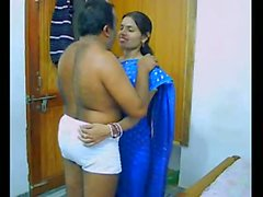 Indien, couple, leur, lune de miel, succion, baiser