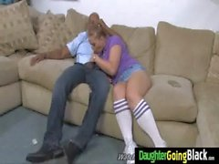 Watch my daughter going on a monster black cock 25