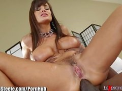 Lisa Ann Fucked by Lexington Steele's 11 Inch Black Cock