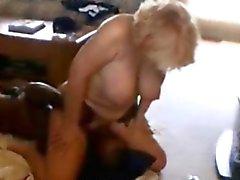 Mature blonde wife interracial facesitting
