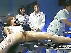 Subtitled modelo japonés de masaje lésbico CFNF por las enfermeras
