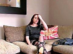 Sexy stripper Amsterdam banged das partes moldadas inglês