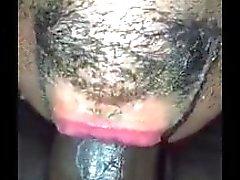 Guy deepthroats huge black cock like a pro