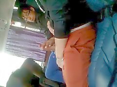 2 horny guys in the bus