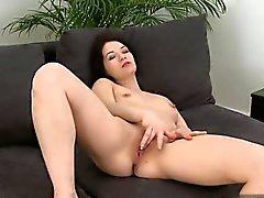 Caméra geile Hausfrau fermer up orgasme