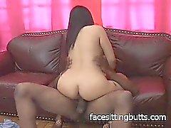 Big tit prostituée asiatique a une bouchée