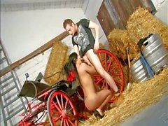 Französisch Dolce Electra Teen arabicum in der Farm gefickt