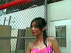 Vintage Asian Tranny Tops her Daddy