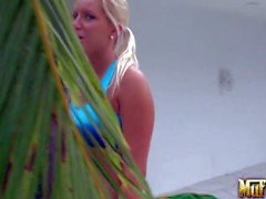 Big meloned sporty lesbos Molly Cavalli and Vanessa Cage