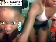Три Причудливый Лицам Нетрадиционной Сексуальной африканцев Playin ' на вебкамеру