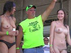 Abate de iowa 2014 deportivo polluelo caliente camiseta mojada concurso