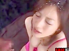 Las chicas japonesas Getting de Bukkake Elaboración