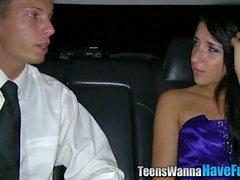 La realtà adolescenti spunked limousine