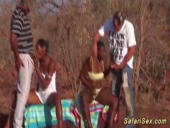Африканский сафари секс оргия в сегменте природы
