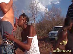 doğada Afrika safari sex orgy