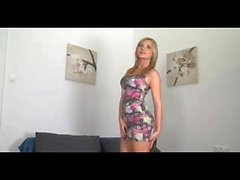 FakeAgent Skinny masseuse Kellie gets jizzed on in casting interview