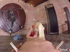big breast babe Angel Wicky in VR porn
