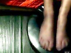 Sborrando le calze