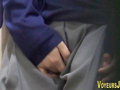 Asian seen masturbating
