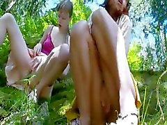Three latvian virgins masturbating