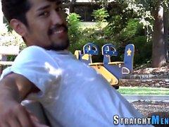 Asiatisk solo stroke kuk