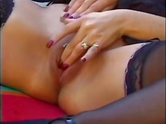 busty milf in lingerie gets nice anal fucked