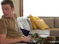 Nextdoorbuddies Str8 Militar Hunk Fucks Gay Friend