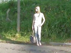 Tranny enjoying doggystyle