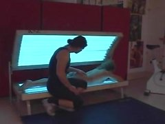 Mature get assfucked by her trainer in gym
