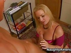 Blondie Babe Flower Tucci Madly Takes A Meaty Shaft In That Guyr Mouth And Cant Live Without It