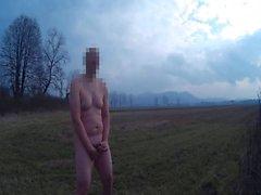 Orgazmın özel güvenlik görevlisi tarafından çıplak avlanmasından sonra
