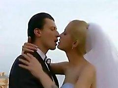 BRIDE neuken in het openbaar Net na de bruiloft !