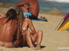 Горячие Любительские Horny Milfs Tanning Голые Nudist Beach Voyeur