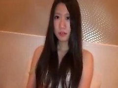 Toying japanese teen babe