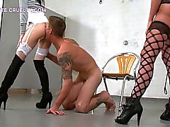 Cruel Women Dominate Biker