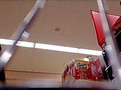 Milf Supermarket Upskirt valkoinen pikkuhousut