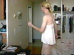 crossdresser lily striptease compilation