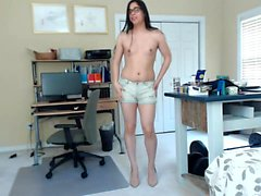 Webcam tranny with small tits solo