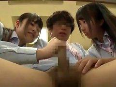 Aasian japanilainen kolmikko Creampie ja Cumshot
