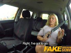 Поддельный автошкола Половой скидка на большие сиськи блондинка
