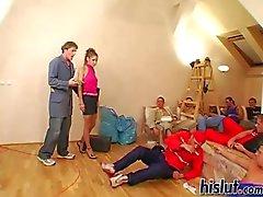 Rachel got ganged up
