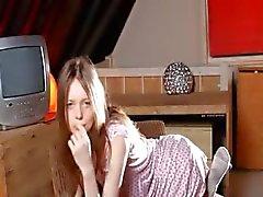 Weiß Strümpfen und unglaublich dünn Mädchen