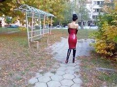 marilyn yusuf latex dresses are women-dresses you shit transvestite-pigs